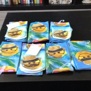 Smiley face socks 7 pair NWT